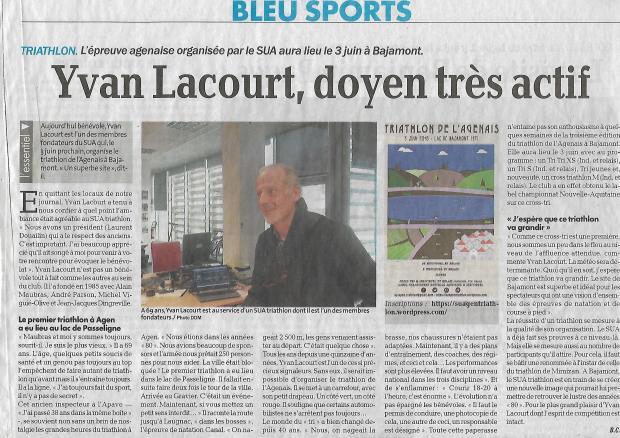 Le Petit Bleu du 19 avril 2018