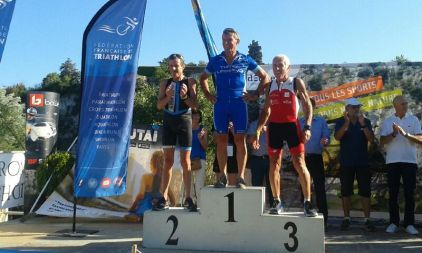 Alain Maubras vice champion de France triathlon longue distance Ardêche